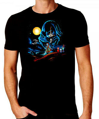 The Nightmare Before Christmas Star Wars Mash Up T-shirt - Comedy Halloween Top