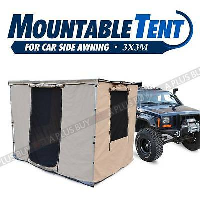 New 3x3M Mountable Tent Room House for Car Side Awning Waterproof Free Bag