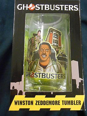 "Ghostbusters ""winston Zeddemore"" Glass Tumbler (Diamond Select) New"