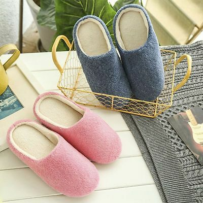 Soft Couple Indoor Floor Soft Non-slip Slippers Flock House Home Shoes New