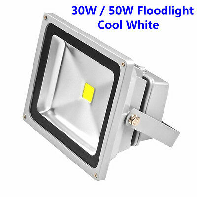30W 50W LED Floodlight Bright Cool White Garden Security Spot Light Waterproof