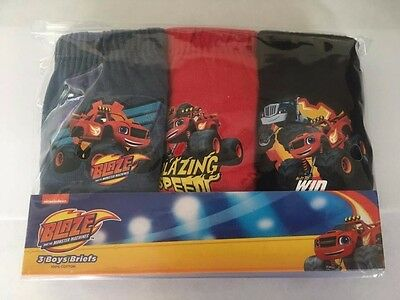 Blaze and the Monster Machines Boys 3 Pack Pants,Briefs Free P&P