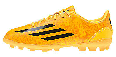 adidas F10 TRX AG Messi Boys Football Boots Astro Turf Kids Junior Gold Boot NEW