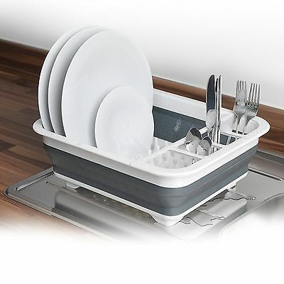 Large Collapsible Dish Drainer Washing Draining Tidy Board Cutlery Rack