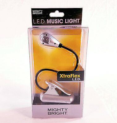 Mighty Bright L.E.D. Music Light XtraFlex in Silver BRAND NEW QuinnTheEskimo