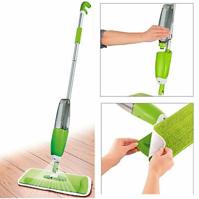 Rotating 360° Magic Mop & 2 Microfiber Cleaning Heads 360° Spinning Mop & Bucket