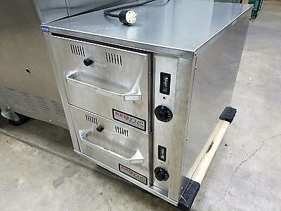 DWN-2-120 Heated Drawers for Buns, Bread or Chips