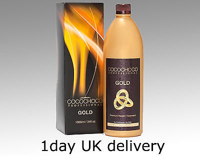 Cocochoco Gold 24K Brazilian Keratin Straightening Blow Dry Hair Treatment Kit