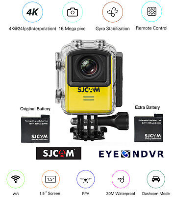 SJCAM M20 16MP Sports Action Camera extra Battery M20-YEL
