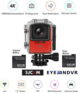 SJCAM M20 16MP Sports Action Camera extra Battery M20-RED