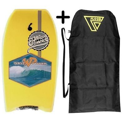 WAVE POWER Suspect EPS Bodyboard [Stamp Yellow/Black] - 3D POWER WAVE  NEUF
