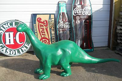 SINCLAIR DINO 8' FOOT CAST ALUMINUM Dinosaur Mobile Texaco Gulf Gas & Oil SIGN .