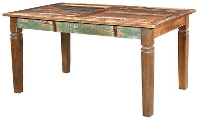 """60"""" Long Dining Table 5ft Solid Rustic Reclaimed Salvaged Wood Multi Color"""