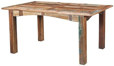 """60"""" Long Agustin Dining Table 5ft Solid Handmade Salvaged Wood Multi Color"""
