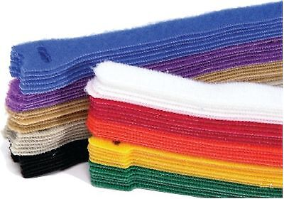 10 pieces x 127mm Long Colored Velcro/Hook & Loop Reusable Cable Ties Straps