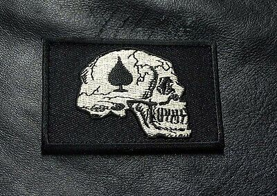 Dead Skull Spade Vietnam Tactical Morale Army Hook Loop Patch