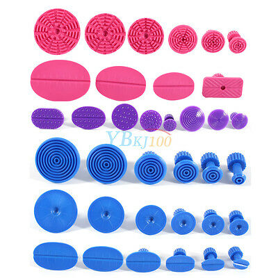 36PCS Auto Car Body Paintless Dent Repair Tools PDR Glue Puller Tabs Removal Kit