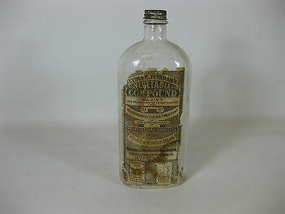 Antique Bottle LYDIA E. PINKHAM'S Vegetable Compound no. 4153