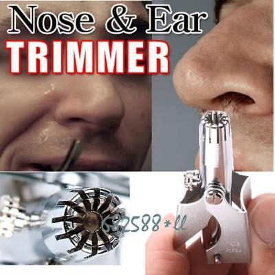 Nose Ear Hair Trimmer Shaver,Safty Clipper,Not Pulled Out, Battery Free Operate