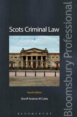 Scots Criminal Law by Andrew Cubie 9781780438672 (Paperback, 2016)