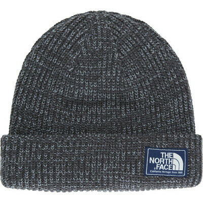 North Face Salty Dog Unisex Headwear Beanie Hat - Graphite Grey Mid One Size