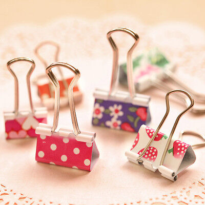 24Pcs Metal Binder Clips Paper Clips Clamps Binding School Office 19mm Set