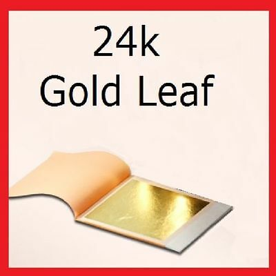 24k Gold Leaf 100% Genuine Scrap Gold 1 sample Sheet  new
