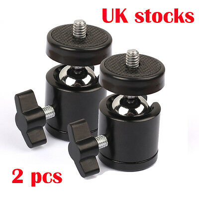 "New 360 Swivel Mini Ball Head 1/4"" Screw for DSLR Camera Tripod Ballhead Stand"