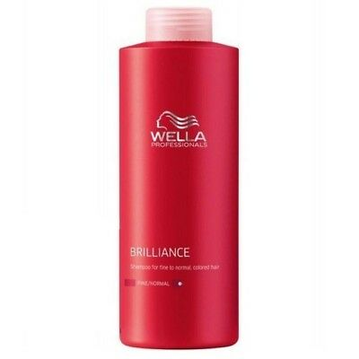 Wella Care Brilliance Shampoo 1000ml normales, feines, coloriertes Haar (17,90€/