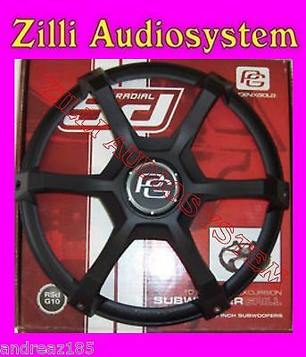"""Phoenix Gold RSd G12 12"""" High Excursion Subwoofer Grill Grid from 30 Cm. New"""