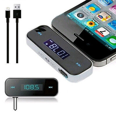 Premium Wireless Car LCD Display Fm Transmitter 3.5mm Wire For iPhone 4 5 6 iPod