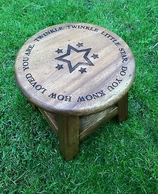 Childrens Stool/Chair Engraved Personalised - Twinkle Twinkle little star