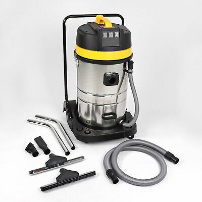 Wet And Dry Vacuum Vac Cleaner Industrial 80Ltr 3000W Stainless Steel
