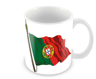 Portugese Flag Coffee Mug Portugal Free Personalisation