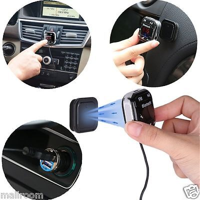 LCD Bluetooth Auto MP3 FM Transmitter Freisprechanlage USB Lade KFZ Für iPhone 7