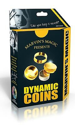 Marvin's Unbelieveable Magic Tricks Dynamic Coins Disappearing Coin Xmas Gift