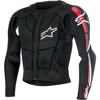New Alpinestars Bionic Plus Bns Mx Protection Jacket Black White Red Medium