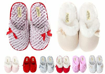 Ladies & Girls Premium Slip On Slippers Size 3 to 8 UK - FLEXIBLE HARD SOLE