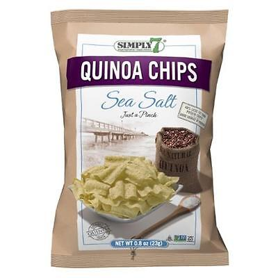 Simply7 Quinoa Chips Sea Salt 0.8-Ounce Bags (Pack of 24)