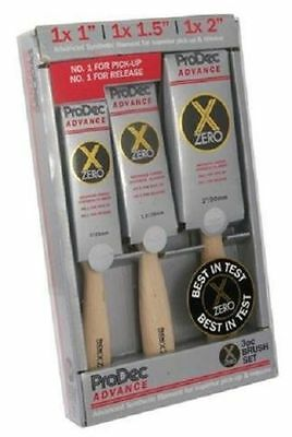 Rodo Abpt056 Prodec Advance X-Zero Synthetic Bristle Flat Paint Brush 3Pc Set