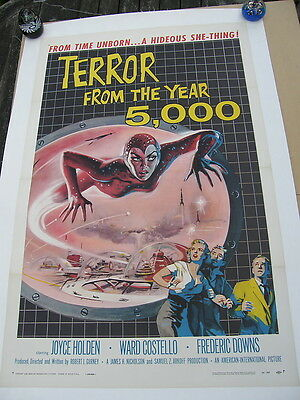 TERROR FROM THE YEAR 5,000 AIP Original US FILM POSTER 1958 1 Sheet on Linen