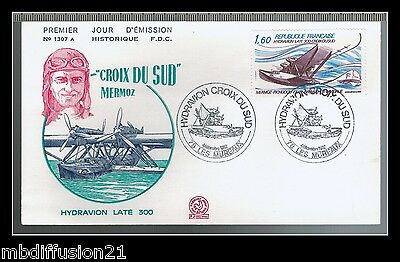 1982//france Fdc**aviation-Mermoz-Hydravion Late 300**timbre Y/t..pa.56