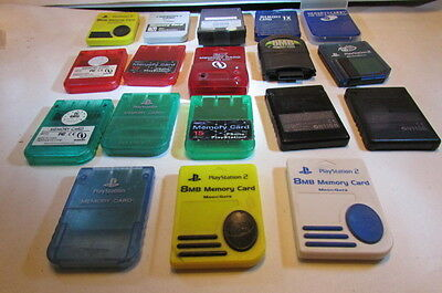 Collection Of 22 Various Makers Memeory Cards-Game Cube/PS1/PS2