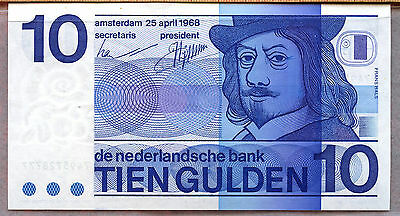 Netherlands ~ 1968 ~ 10 Gulden Note ~ Au