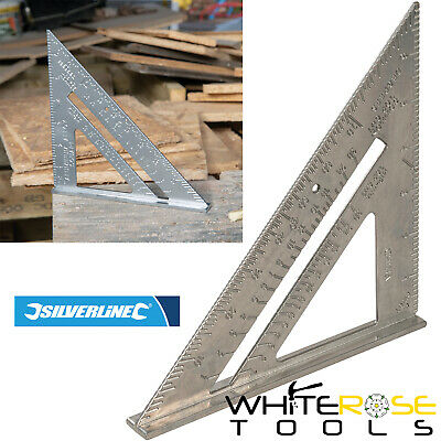 "Silverline 734100 7"" Aluminium Alloy Roofing Rafter Square Framing Roof Mitre"