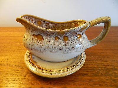 Fosters Pottery Honeycomb Gravy Boat and Stand