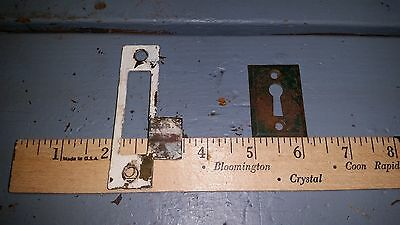 2 Antique Brass Door Plates