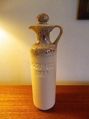 Fosters Pottery Honeycomb Cooking Oil Jug with Stopper