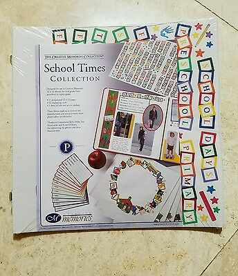 New in Package Creative Memories 12x12 School Times Scrapbook Pages