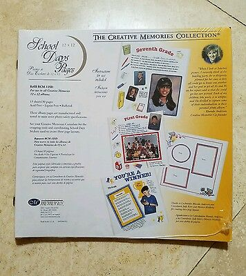 New in Package Creative Memories 12x12 School Days Scrapbook Pages - Rare